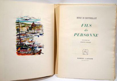 HENRY DE MONTHERLANT. Fils de personne. Paris....