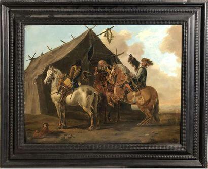 Ecole HOLLANDAISE du XIXème siècle, suiveur...