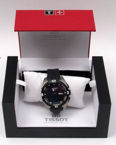 """TISSOT """"T Touch Expert Solar"""" Montre bracelet en titane et caoutchouc noir, affichage..."""