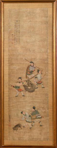 Ecole CHINOISE du XIXème siècle, suiveur...