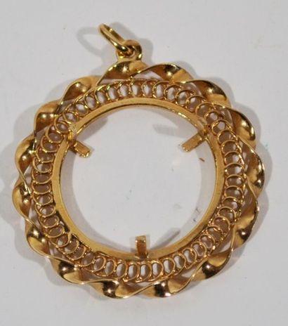 Monture de pendentif en or jaune 18 K (750/oo)...