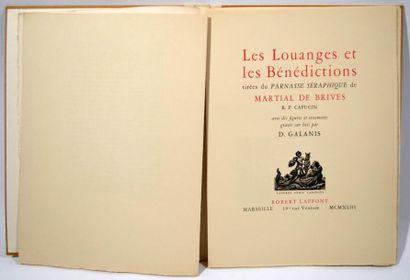 MARTIAL DE BRIVES (R.P.) Les Louanges et...
