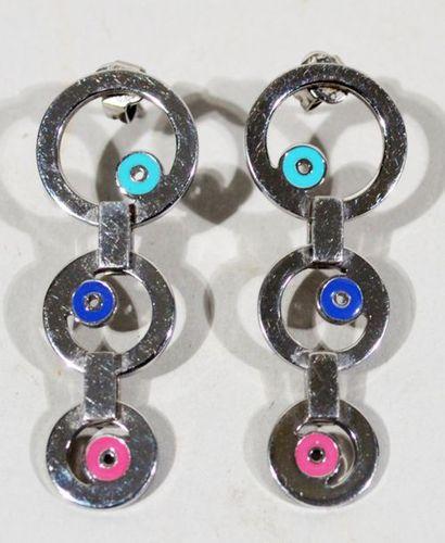SWATCH - Paire de pendants d'oreille à décor...