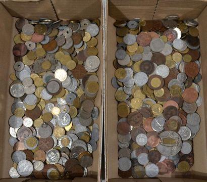 LOT de pièces démonétisées françaises. Environ...