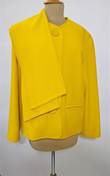 GEORGES RECH Veste ample en laine jaune (T40)...