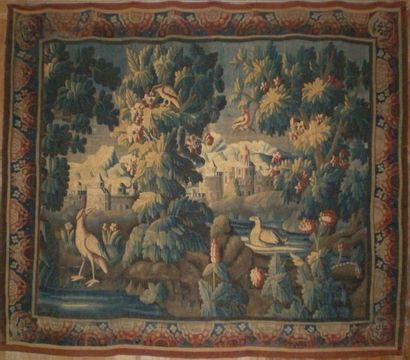 Tapisserie d'Aubusson du XVIII° siècle représentant Une...