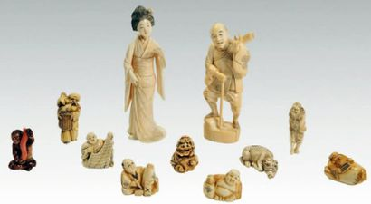 Ivoires. Japon, XIXe et XXe siècle.