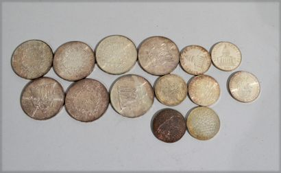 Set of 7 pieces of 100 Francs and a suite...