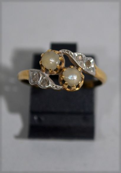 Ring You and Me in two-tone 18 K (750/oo)...