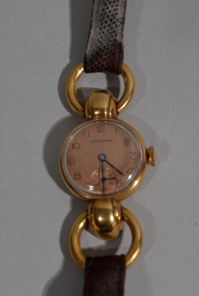 LONGINES - Ladies' wristwatch in 18 K (750/oo)...