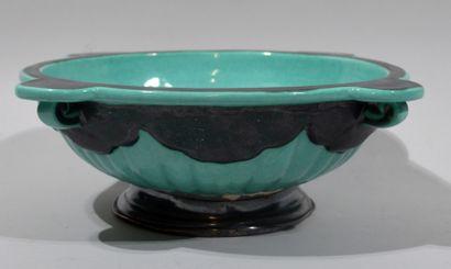 Henri CHAUMEIL (1877-1944)  Celadon green...