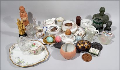 Set of showcase objects including: collection...