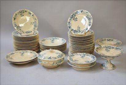 LONGWY Model CRONSTADT  Earthenware dinner...
