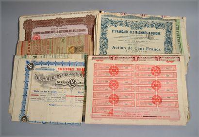 Collection d'actions, obligations, parts...