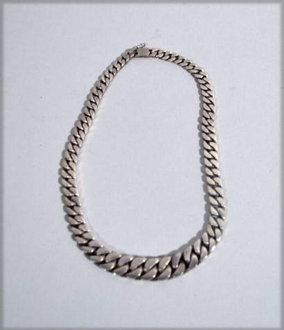 Large sterling silver chain with chain links...