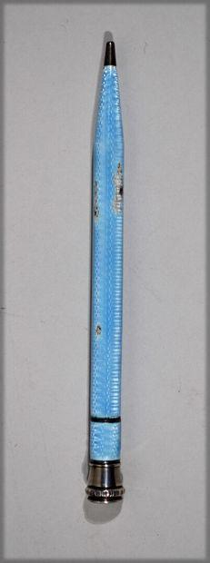 DRGM - Blue enamel silver pen (some miss...