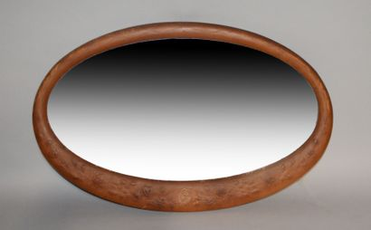 Oval-shaped mirror, the dial is covered in...
