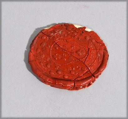 Red wax stamp annotated