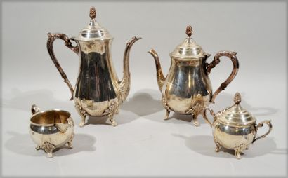 COFFEE TEA SERVICE made of silver plated...