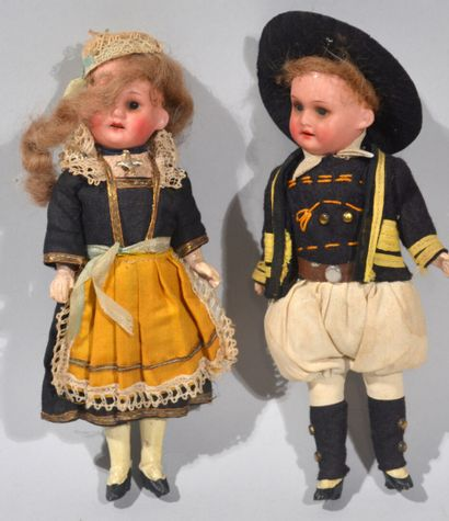 GERMANY  Reunion of two cute dolls with porcelain...