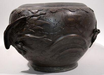 JAPAN - MEIJI Period (1868 - 1912)  Bronze...