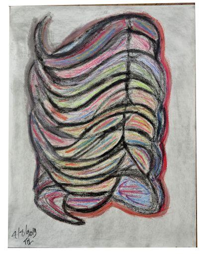 Mario TIBURCE (1974)  Réunion de 4 pastels...