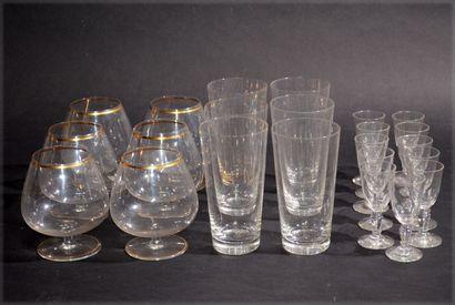 BACCARAT Suite of six crystal orangeade glasses...