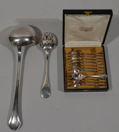 CHRISTOFLE - Set in silver plated metal comprising:...