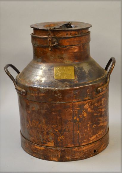 ARGENTINA  MILK CELLAR made of tinned copper...