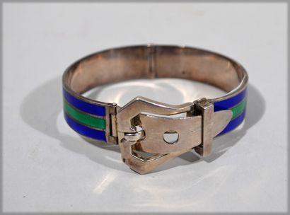 Bracelet Silver plated metal bracelet imitating...