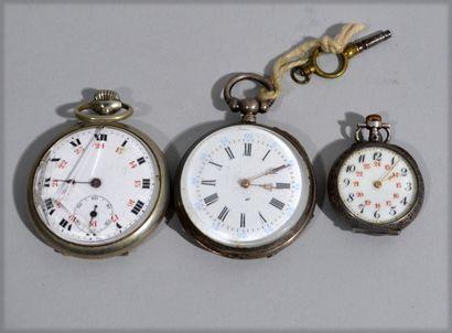 Pocket watch in silver (Crab punch), round...