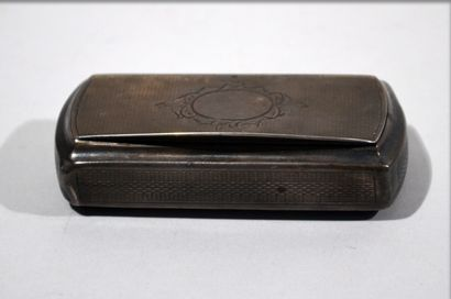 Rectangular solid silver TOBACCO BOX with...