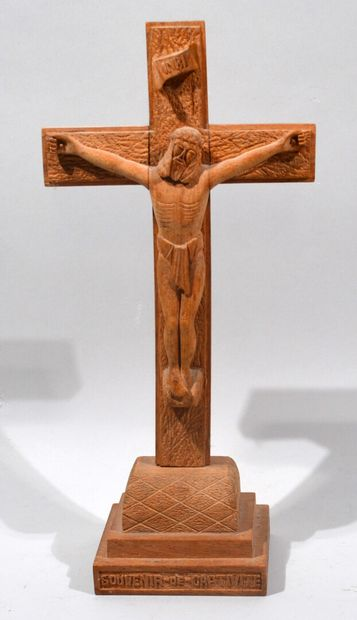 Carved wooden CRUCIFIX indicating