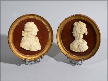 MEDAL representing Louis XVI and Marie-Antoinette...
