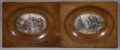 Pair of polychrome miniatures signed LORCA...