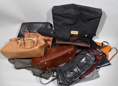 Meeting of a dozen handbags, pockets, some...