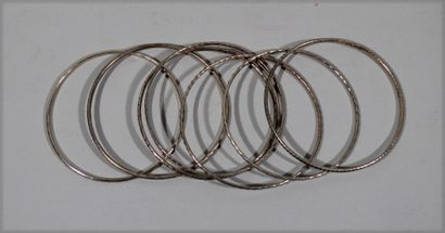 Set of the seven silver