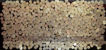 Collection of demonetized coins, some of...