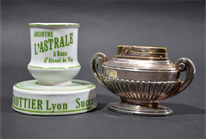 Lot including a porcelain Absinthe Astrale...