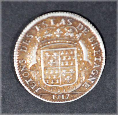 JETON en argent des Etats de Bretagne 1717...