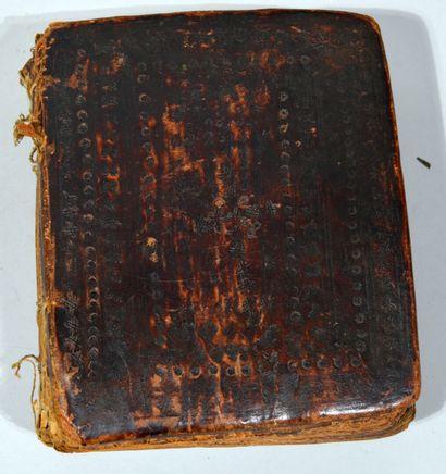 (Religion, Éthiopie) - Manuscrit religieux (bible probablement), en ghèze. In-8°...