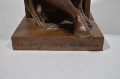 """MICHEL-ANGE (1475-1564) D'après  """"Laurent de Médicis, Duc d'Urbin""""  Bronze à patine..."""