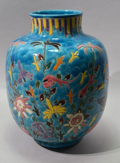 Alain MAUNIER A VALLAURIS  Important vase...