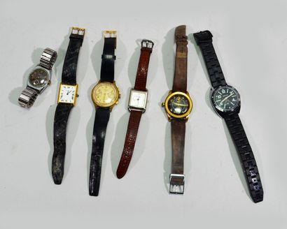 Lot de montres comprenant Emile Pequignet,...