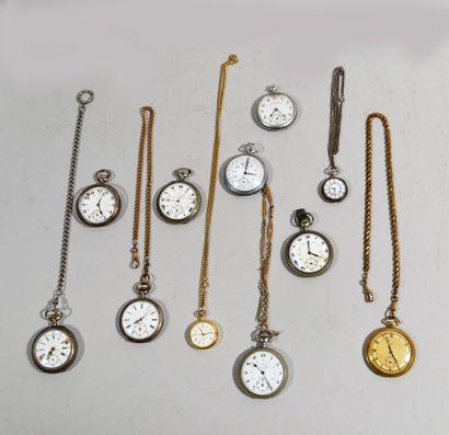 Collection de neuf montres de gousset et...