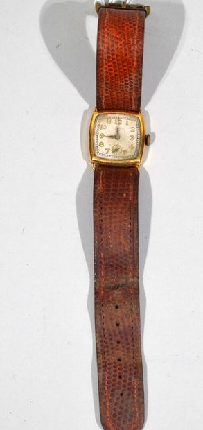 MONTRE bracelet en or 18K (750/1000e), cadran...