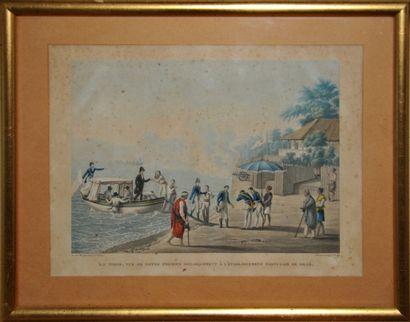 D'après A. Pellion, dessin par Marchais  «Ile...