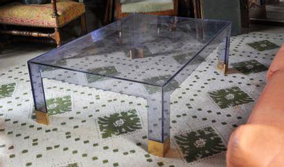 DESIGN XXème  Table basse rectangulaire en...