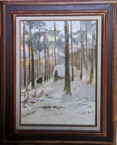 Fernand MAISSEN (1873-?)  «Sanglier dans...