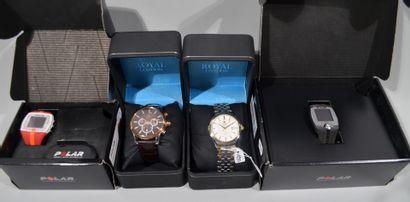 Lot de montres comprenant :  - POLAR, Fitness...